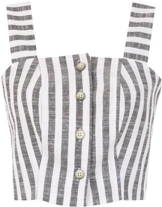 OSKLEN Striped Cropped Top