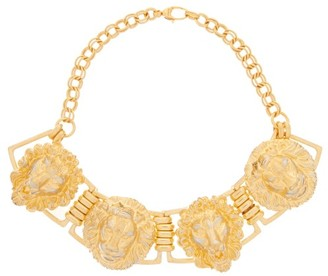 Gucci Lion-head Choker Necklace - Womens - Gold