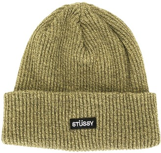 Stussy Logo-Patch Ribbed Knit Beanie