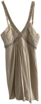 BCBGMAXAZRIA Ecru Cotton - elasthane Dress for Women