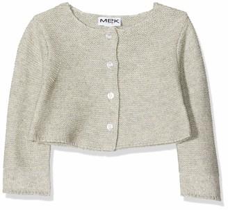 MEK Baby Girls Cardigan Tricot CON FILO Lurex