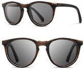 Shwood Women's 'Belmont' 48Mm Polarized Wood Sunglasses - Distressed Walnut/ Grey Polar