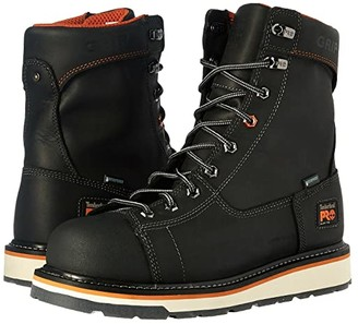 Timberland Gridworks Alloy Safety Toe Waterproof Boot (Black Full Grain Leather) Men's Work Lace-up Boots