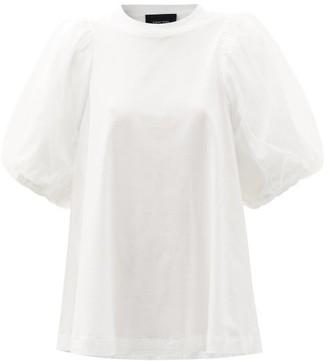 Simone Rocha Tulle Puff-sleeve Supima-cotton T-shirt - White