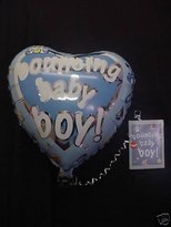 "Wbt 18"" Bouncin Baby Boy Foil Balloon In A Card- Bl327"