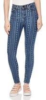 Sandro Diva Printed Skinny Jeans in Blue