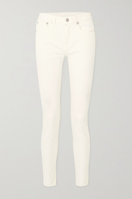 R 13 Alison Mid-rise Skinny Jeans - White