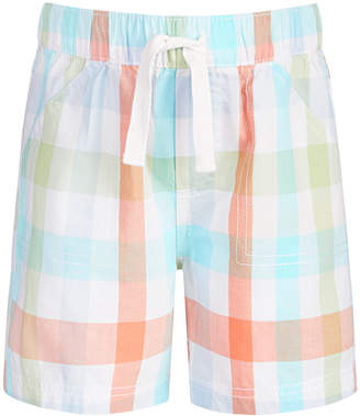 First Impressions Baby Boys Plaid Cotton Shorts