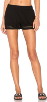 Michael Stars Ladder Trim Short in Black. - size L (also in M,S,XS)