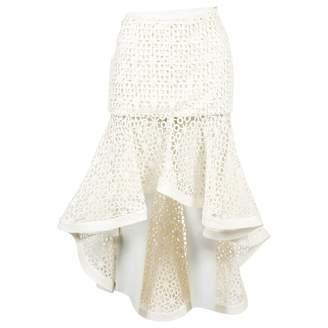 Alexis White Cotton Skirts
