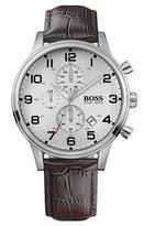BOSS Hugo Boss Watch, Men's Brown Croc Embossed Leather Strap 1512447
