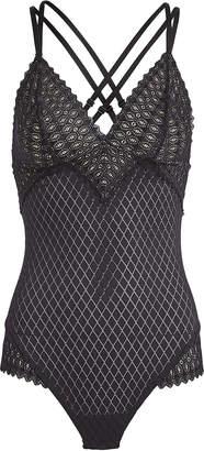 Cosabella Lunna Geometric Lace Bodysuit