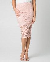 Le Château Corded Lace Midi Skirt