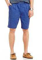 Roundtree & Yorke Casuals Double-Pleat Washed Twill Shorts