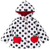 Shiny Toddler Little Girls Kids Waterproof Hoodied Coat Jacket RainCoat