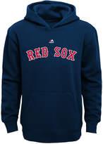 Majestic Mlb Worldmark Boston Red Sox Fleece Hoodie, Little Boys (4-7)