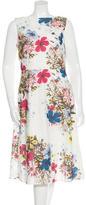 Erdem Eyelet Floral Print Dress