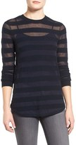 MICHAEL Michael Kors Women's Sheer Stripe Top