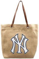 New York Yankees Little Earth Burlap Tote Bag