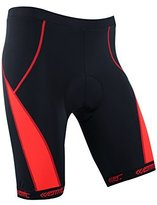 Santic Men's Cycling Shorts 4D Padded Anti-sweat Road Bike Shorts Red