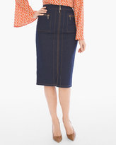 Chico's Refined Denim Pencil Skirt
