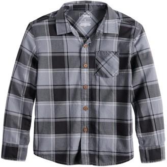 Sonoma Goods For Life Boys 4-12 Plaid Button Down Shirt