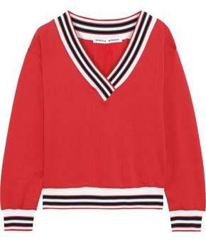 Rebecca Minkoff Kristine Striped Cotton-blend Fleece Sweatshirt