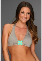 Trina Turk Rex Ray Solid Buckle Top (Taupe) - Apparel