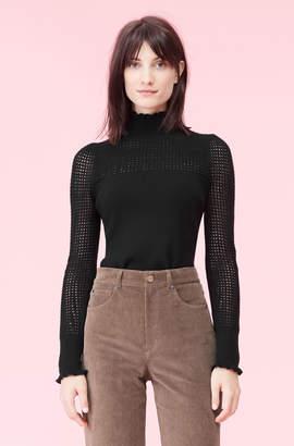 Rebecca Taylor La Vie Pointelle Turtleneck Pullover