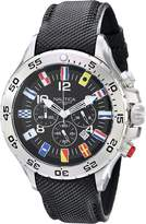 Nautica Men's N16553G Stainless Steel Watch with Black Band