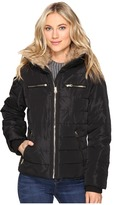 Brigitte Bailey Solitaire Jacket w/ Faux Fur