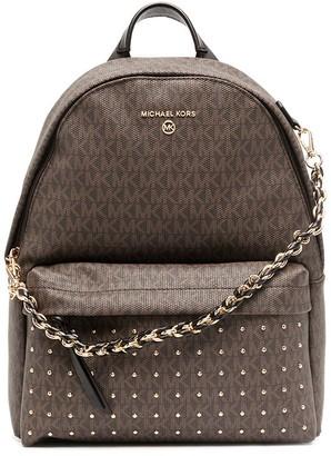 MICHAEL Michael Kors Monogram-Print Leather Backpack