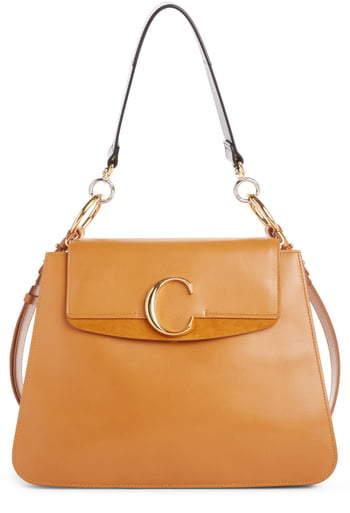 Chloé Medium C Leather Shoulder Bag