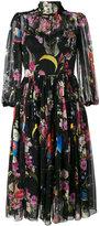 Dolce & Gabbana space print sheer dress