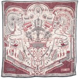Thumbnail for your product : Hermes The Winner Is , By Elias Kafouros Cashmere & Silk-Blend Scarf