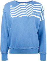 Golden Goose Deluxe Brand flag print sweatshirt - women - Cotton - S