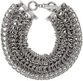 Alexander Wang Silver Three Row Box Chain Necklace