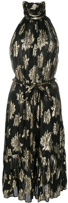 IRO Metallic-Thread Floral Dress