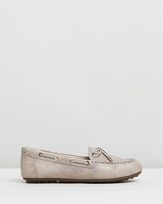 Vionic Women's Nude Brogues & Loafers - Virginia Leather Moccasins - Size One Size, 5 at The Iconic