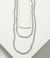 LOFT Bar Layered Beaded Necklace