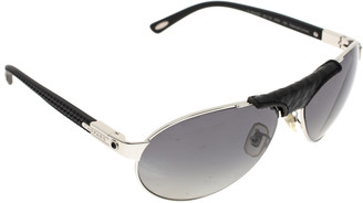 Chopard Black & Silver/ Grey Polarized SCH 931 Aviator Sunglasses