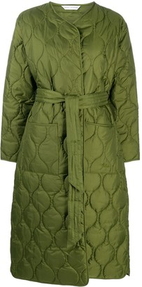 Barbour x Alexa Chung Martha collarless quilted coat