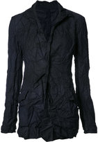 Yohji Yamamoto creased fitted jacket - women - Polyester - 1