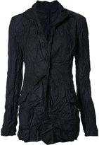Yohji Yamamoto creased fitted jacket - women - Polyester - 3