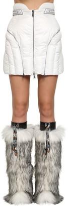 Byblos Quilted Nylon Mini Skirt