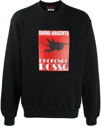 MSGM Film-Print Sweatshirt