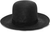 Janessa Leone Black Wool Bowler Hat