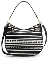 Kate Spade Jackson Street Embroidered Mylie Hobo - Black