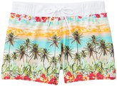Sauvage South Seas Palm Trees Swim Trunk 8140893