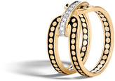 John Hardy Women's Dot 10.5MM Band Ring in 18K Gold with Diamonds